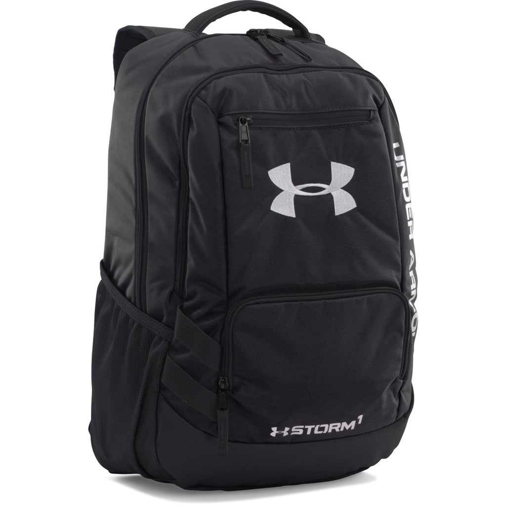 c4b864b65107 Under Armour Black UA Team Hustle Backpack. ADD YOUR LOGO