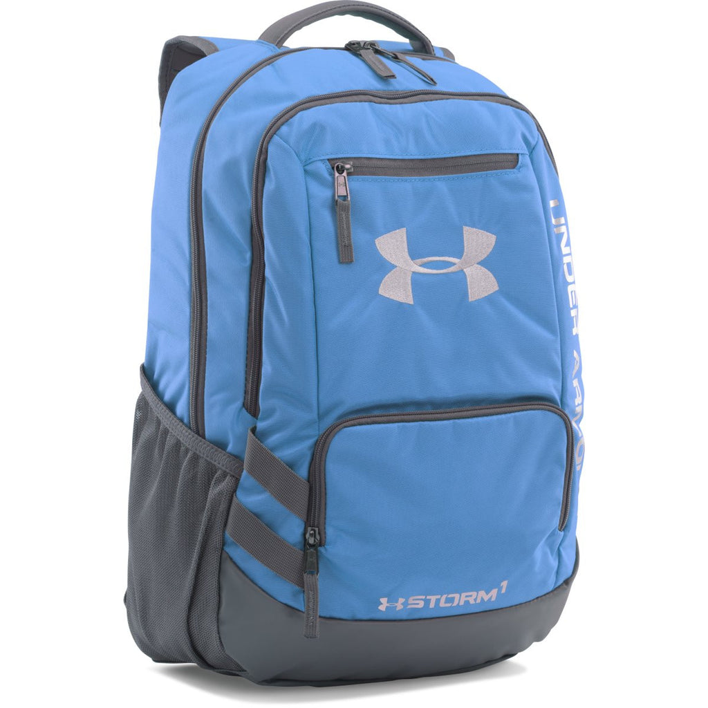 brand new e59df 09ecd Under Armour Carolina Blue UA Team Hustle Backpack