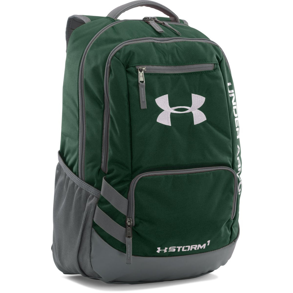 b8f2e8c46bdb Under Armour Forest Green UA Team Hustle Backpack. ADD YOUR LOGO