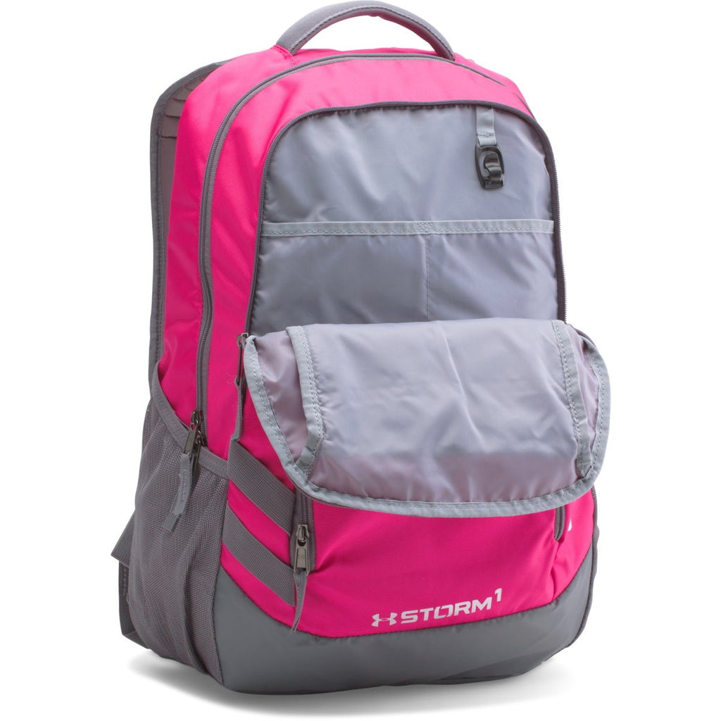 Under Armour Tropic Pink UA Team Hustle Backpack