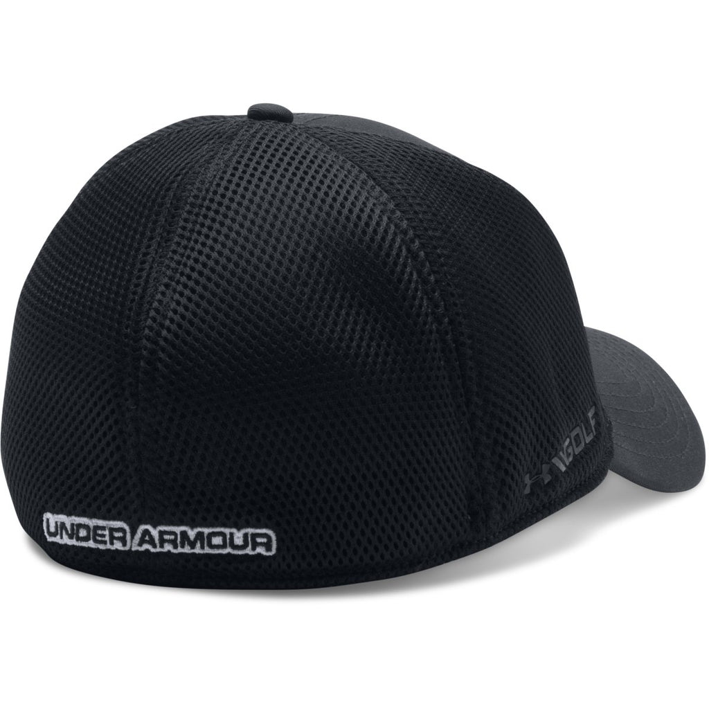 Under Armour Men s Black UA Golf Mesh Stretch 2.0 Cap 8749468676f