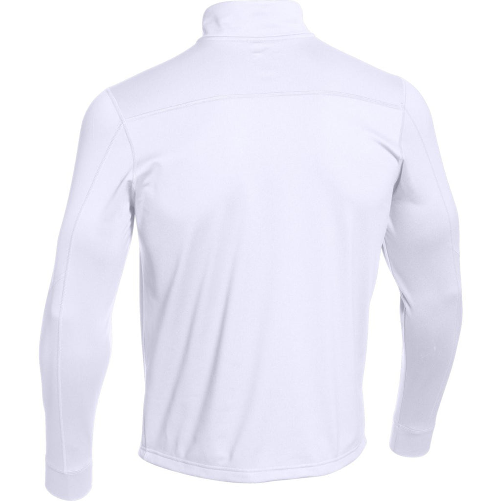 Under Armour Men's White Qualifier Novelty 1/4 Zip