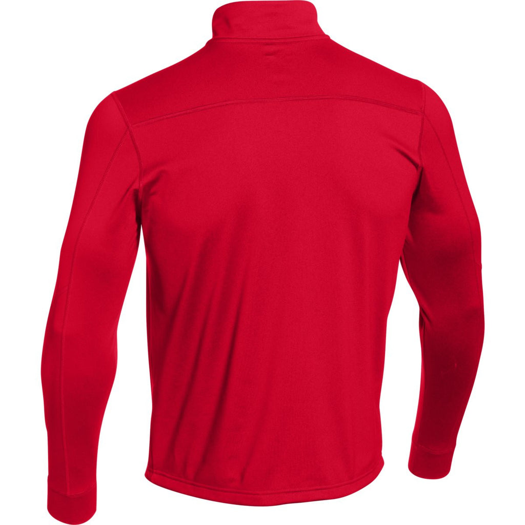 Under Armour Men's Red Qualifier Novelty 1/4 Zip