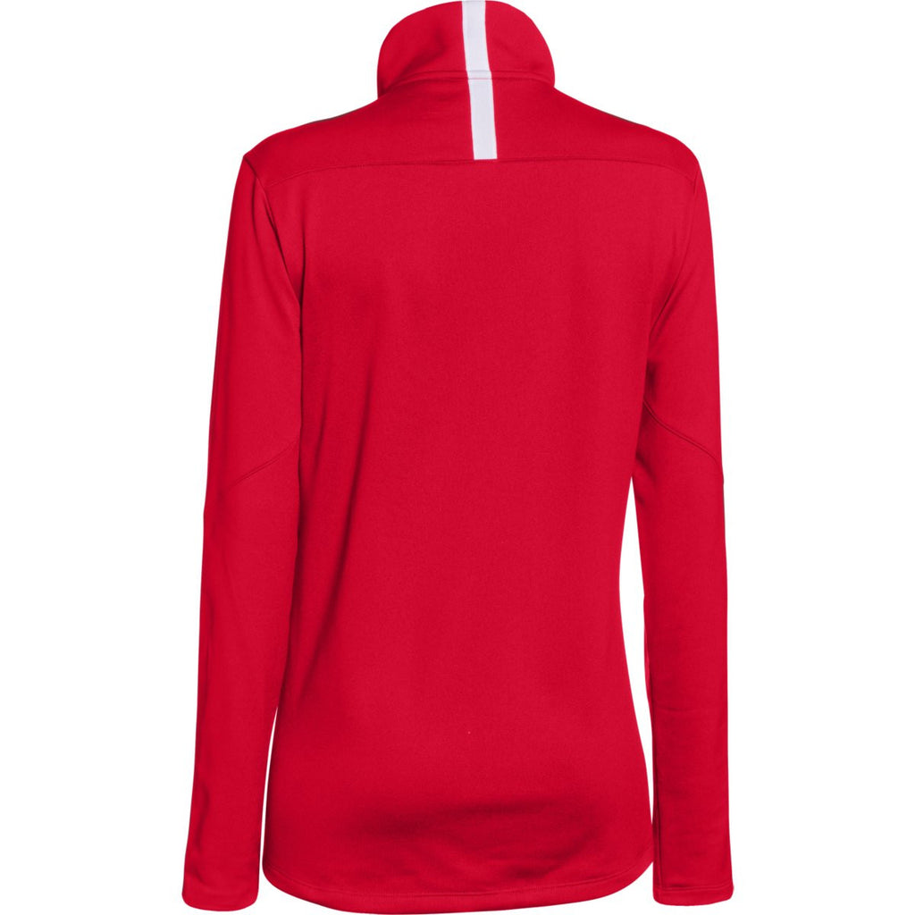 Under Armour Women's Red Qualifier Quarter Zip