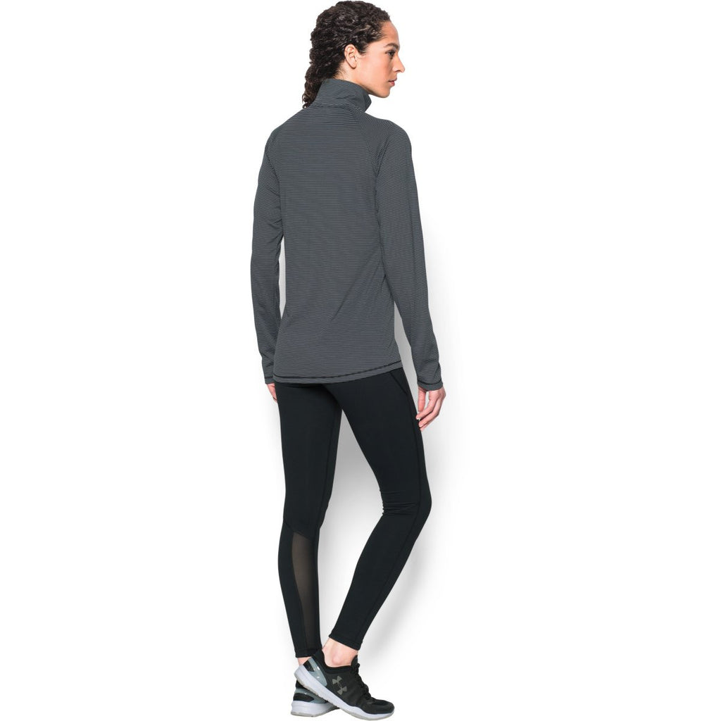 Under Armour Women's Black Steel Stripe Tech 1/4 Zip