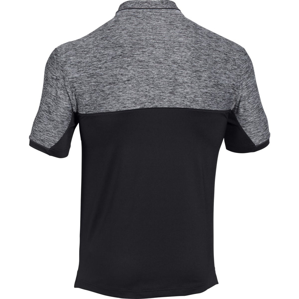 Under Armour Men's Black UA Team Podium Polo