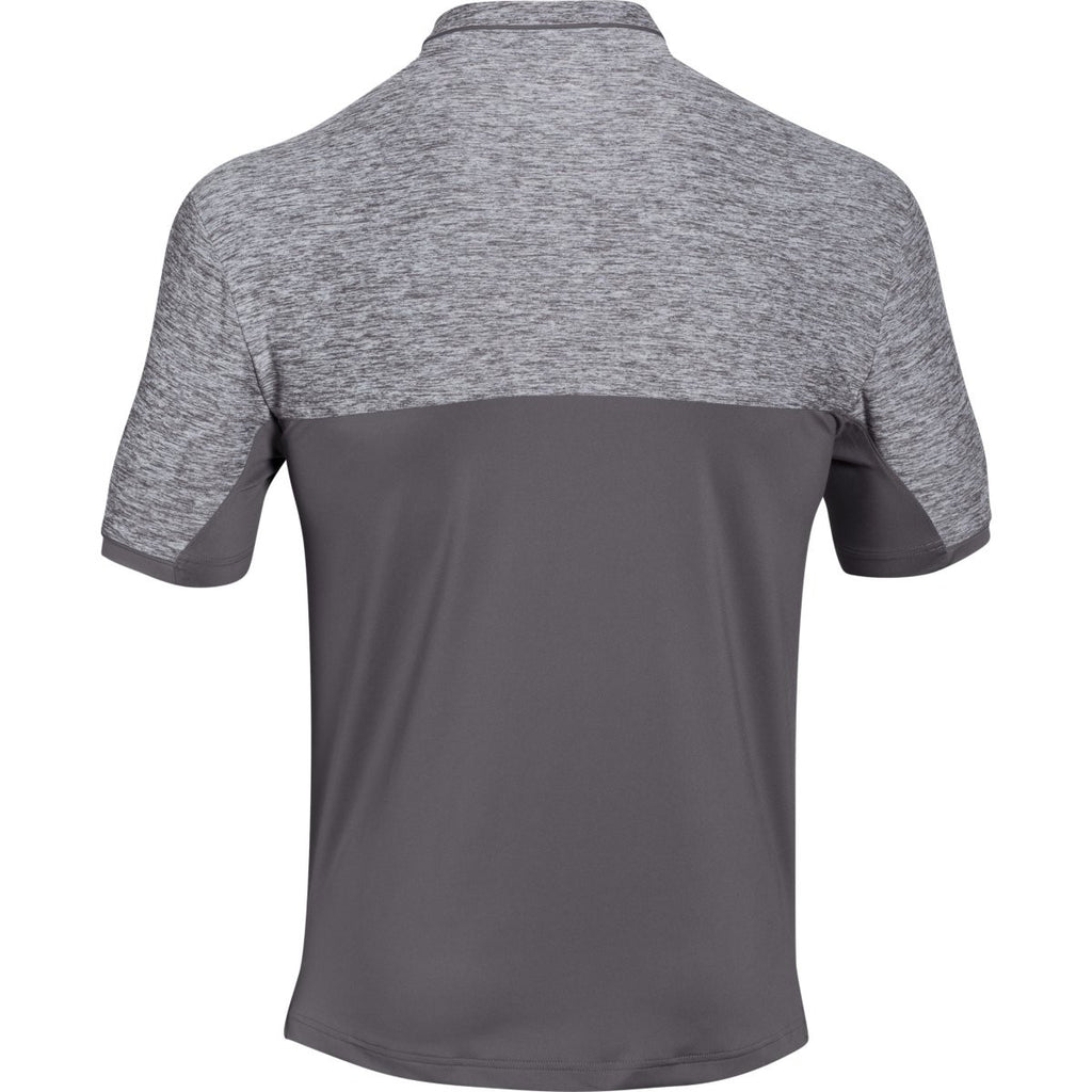 Under Armour Men's Graphite UA Team Podium Polo