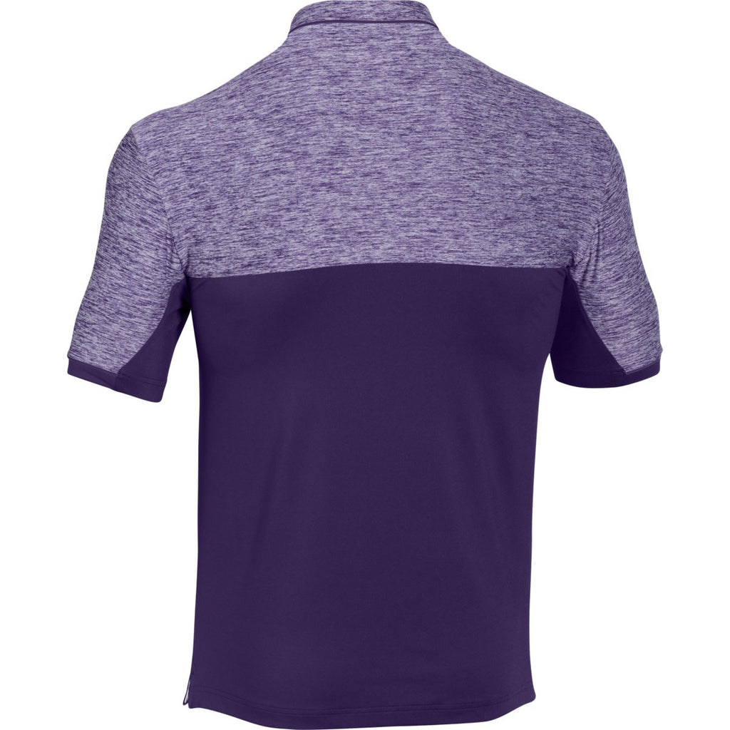 Under Armour Men's Purple UA Team Podium Polo
