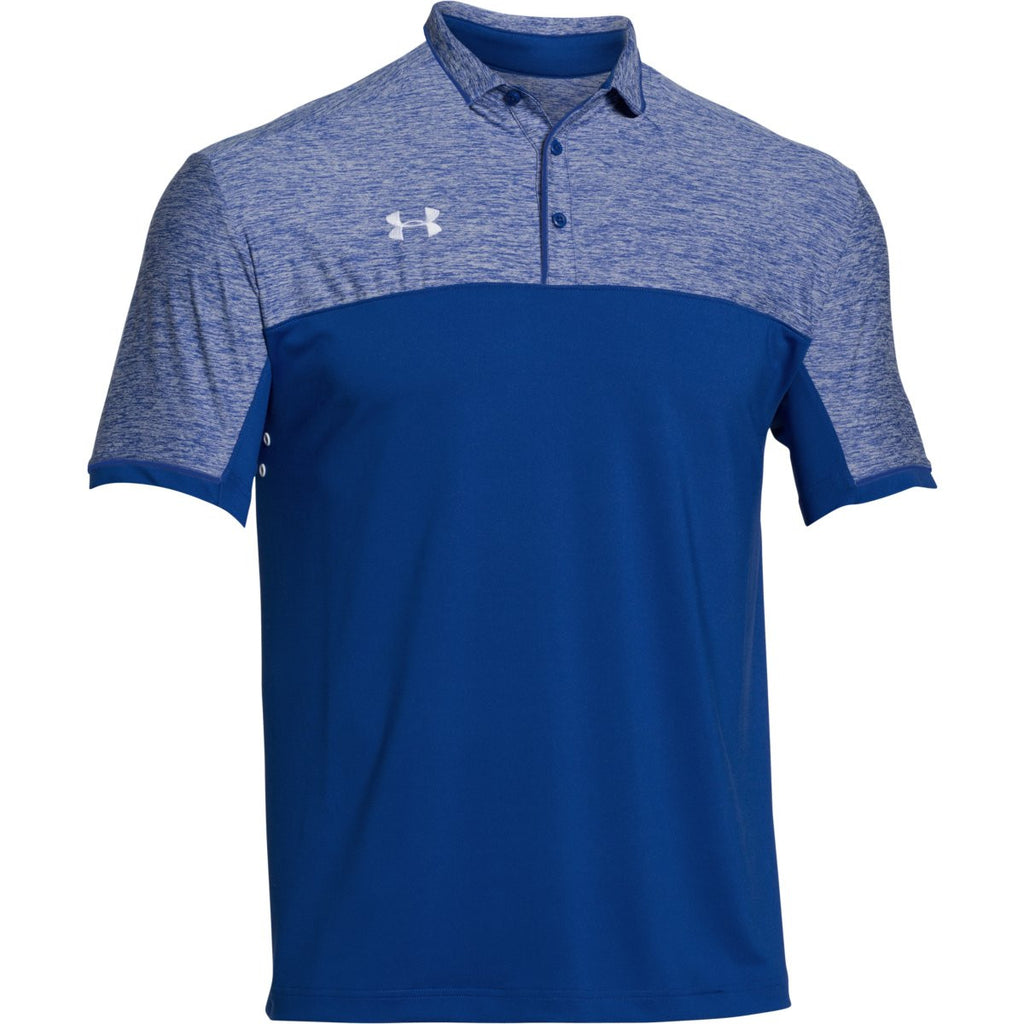 Under armour men 39 s royal ua team podium polo for Under armor business shirts