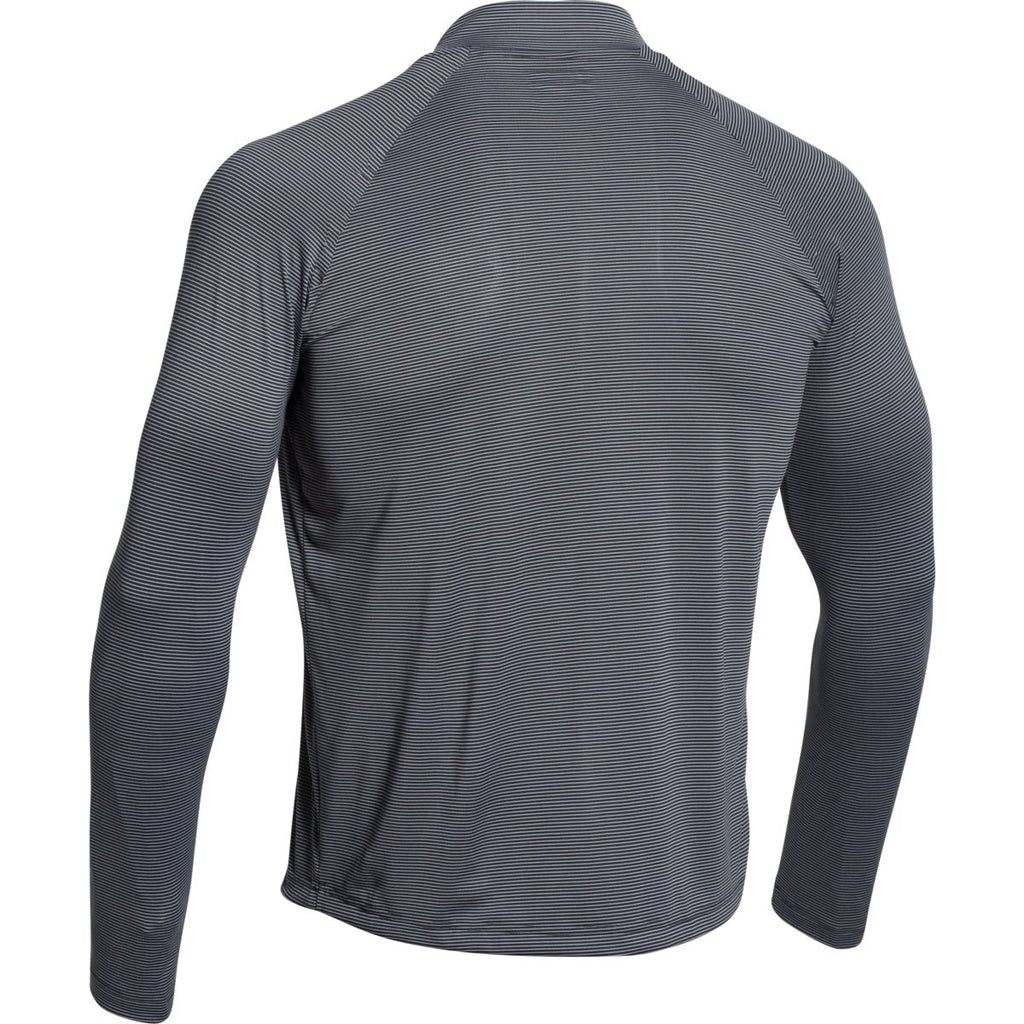 Under Armour Men's Black Steel Stripe Tech 1/4 Zip