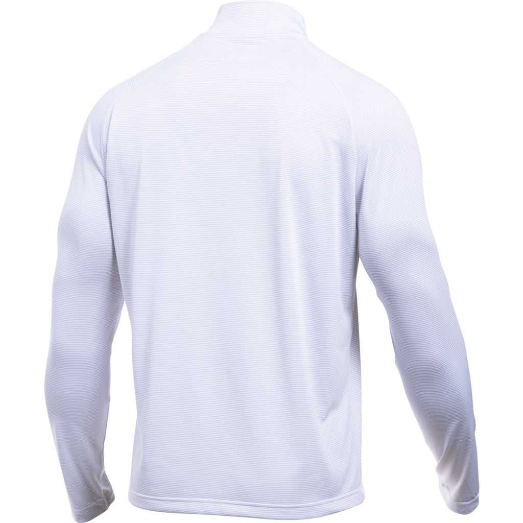 Under Armour Men's White Aluminum Stripe Tech 1/4 Zip