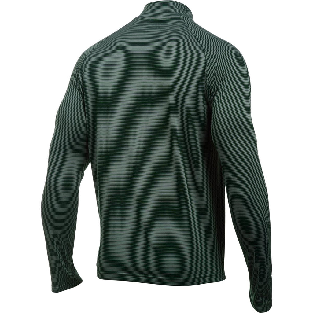 Under Armour Men's Forest Green Steel Stripe Tech 1/4 Zip