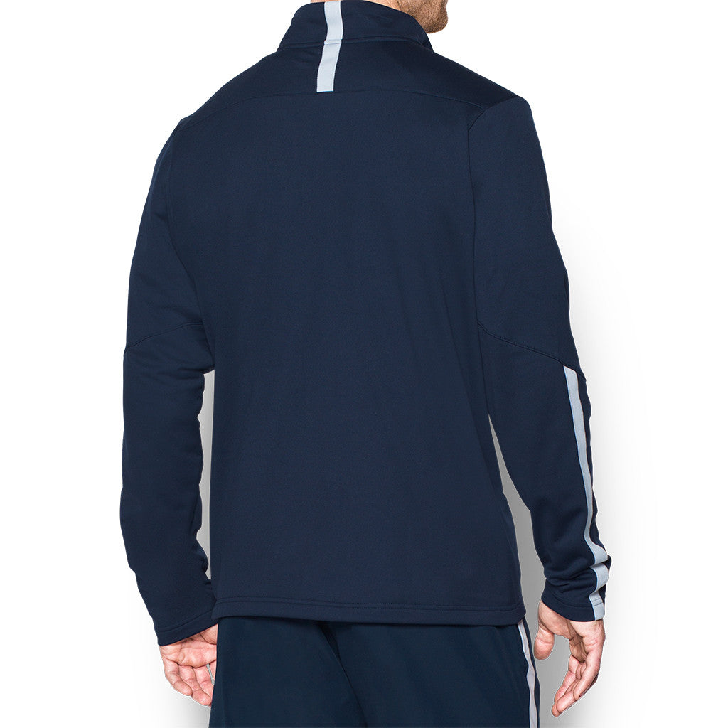 under armour qualifier 1 4 zip. under armour men\u0027s midnight navy corporate qualifier quarter zip 1 4 g