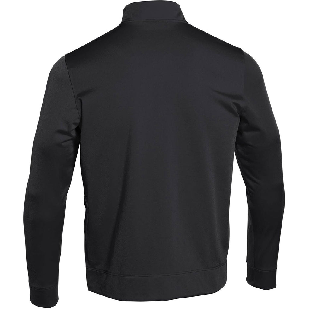 Under Armour Men's Black Rival Knit Warm-Up Jacket