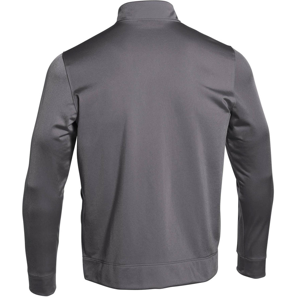 under armour zip up jacket. under armour men\u0027s graphite rival knit warm-up jacket zip up i