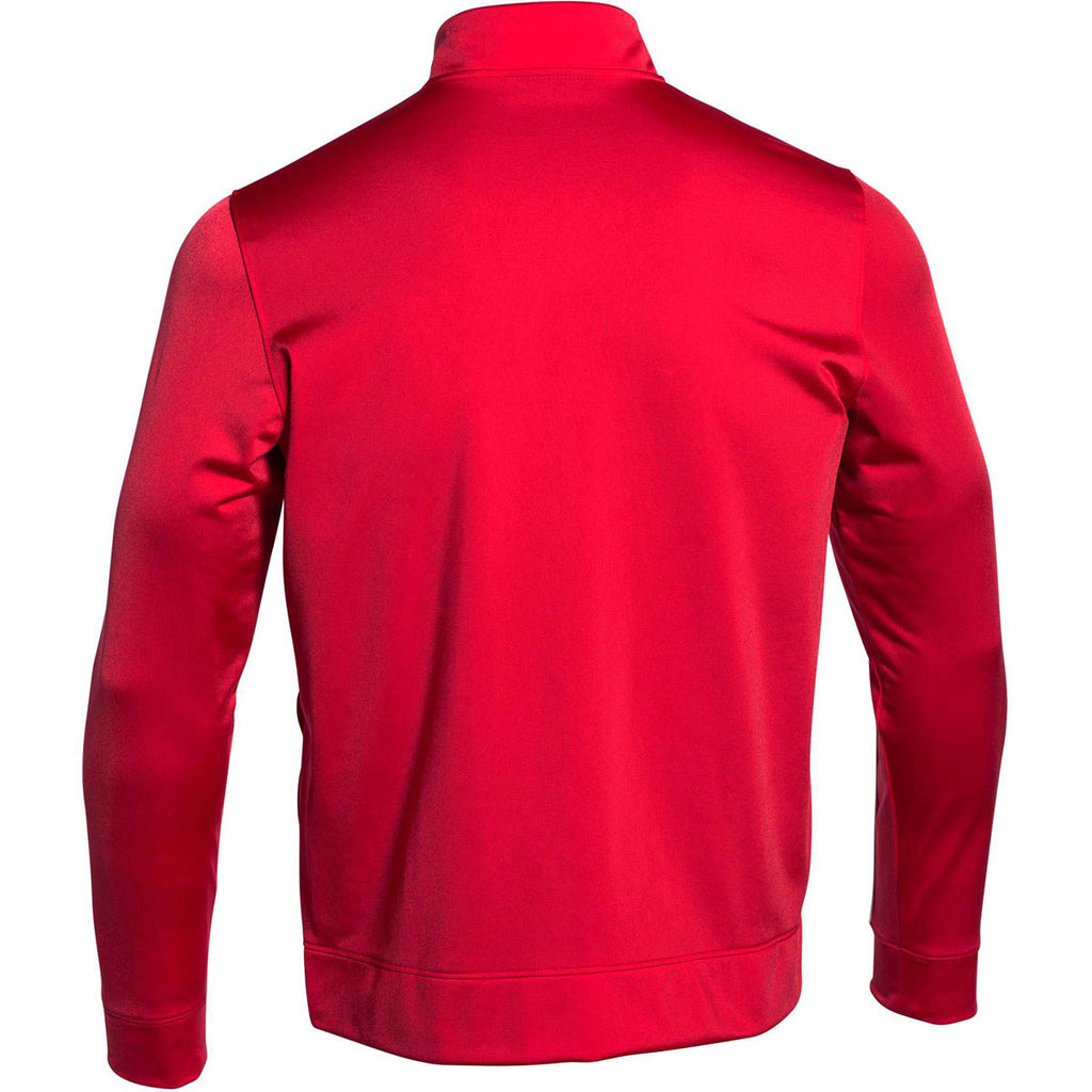 Under Armour Men's Red Rival Knit Warm-Up Jacket
