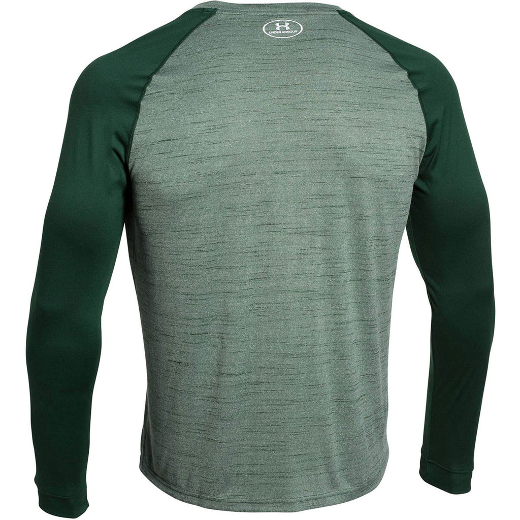 Under Armour Men's Forest Green Novelty Locker Long Sleeve Tee
