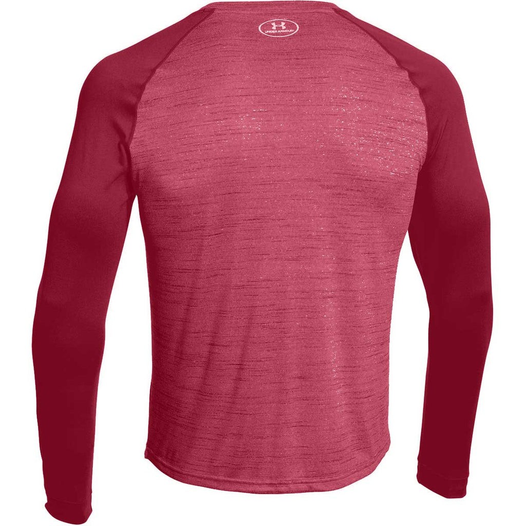 Under Armour Men's Maroon Novelty Locker Long Sleeve Tee