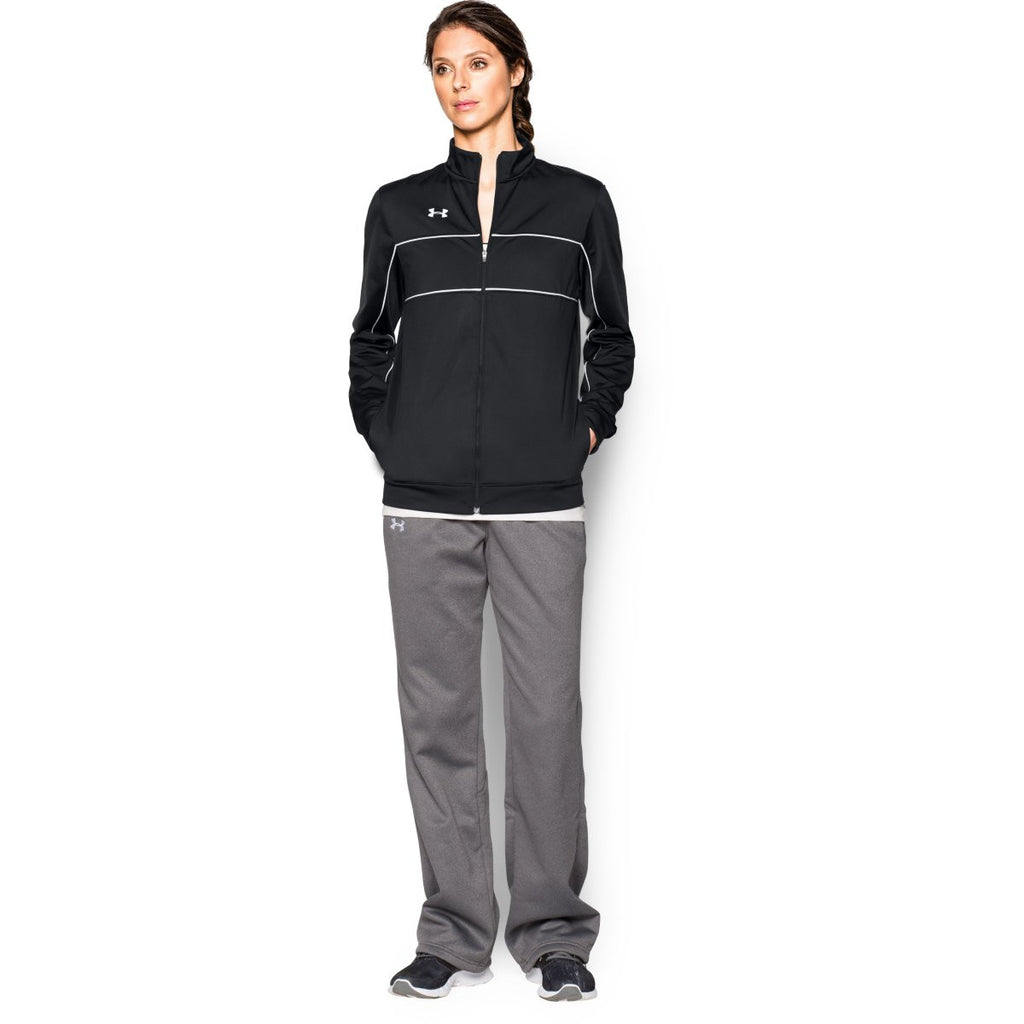 Under Armour Women's Black Rival Knit Warm-Up Jacket