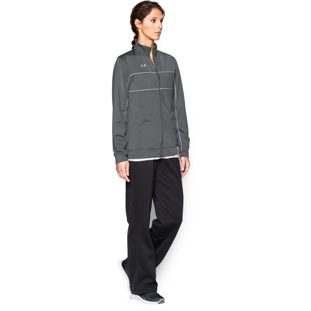 Under Armour Women's Graphite Rival Knit Warm-Up Jacket