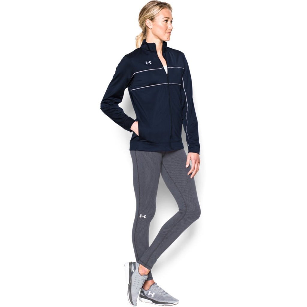 Under Armour Women's Midnight Navy Rival Knit Warm-Up Jacket