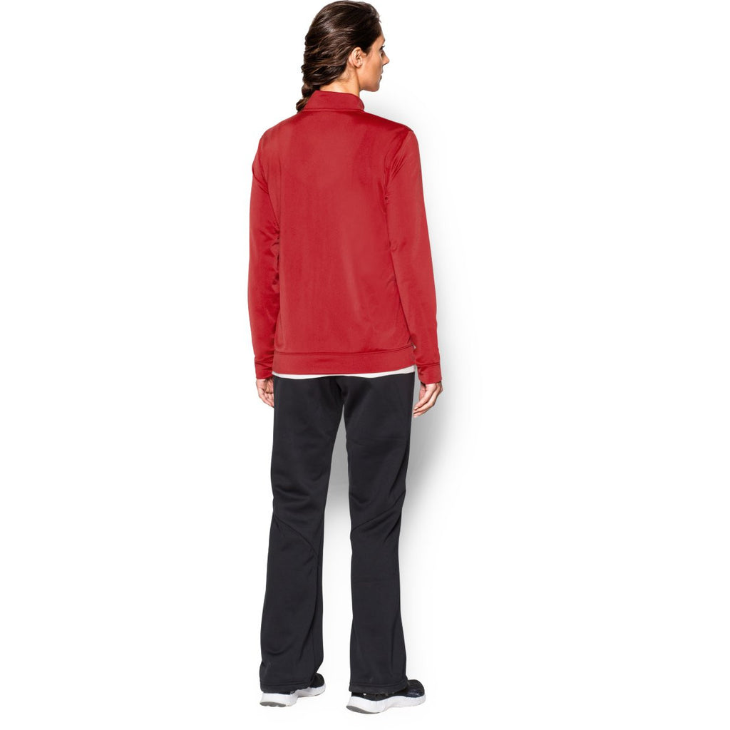 Under Armour Women's Red Rival Knit Warm-Up Jacket