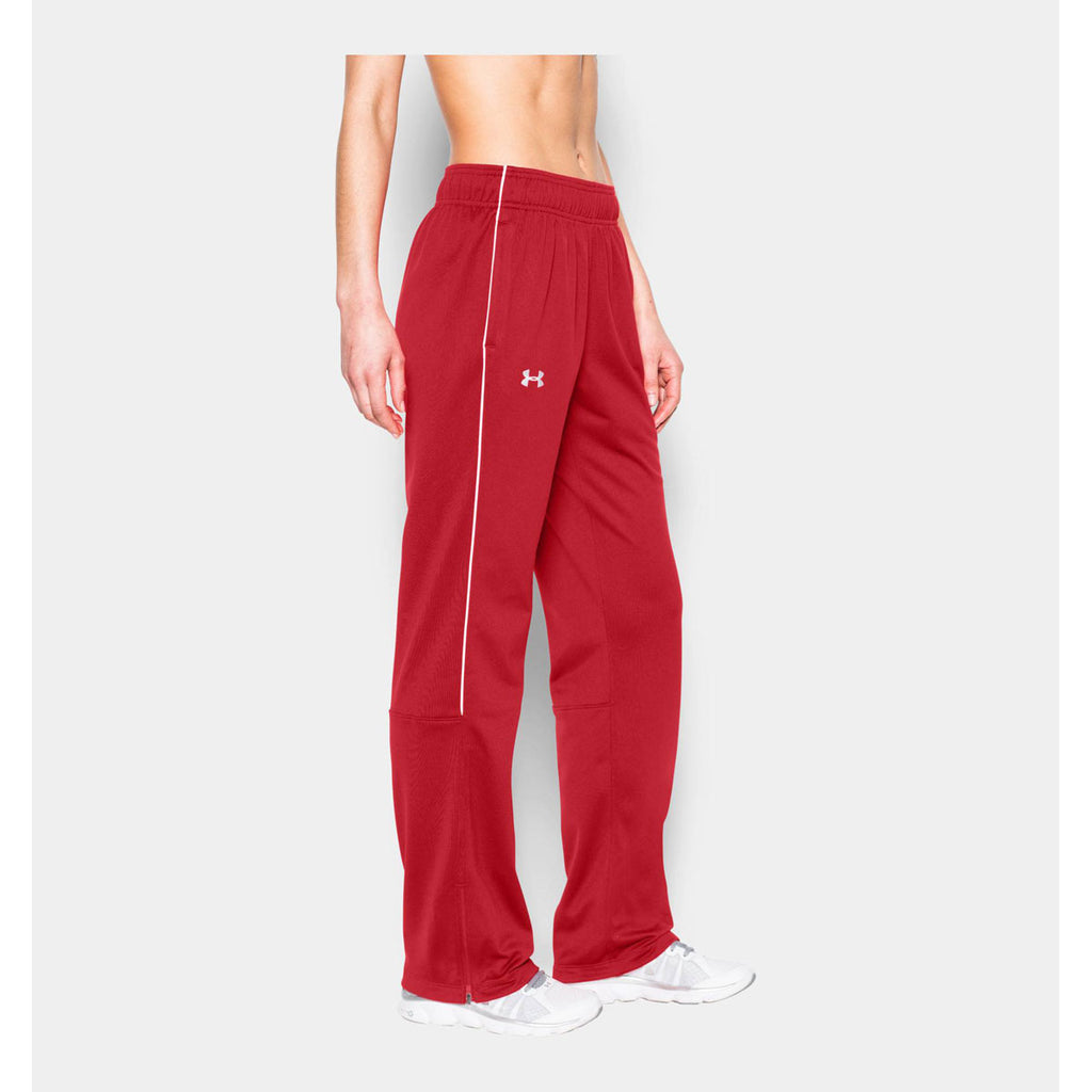 Under Armour Women's Red UA Rival Knit Warm-Up Pant
