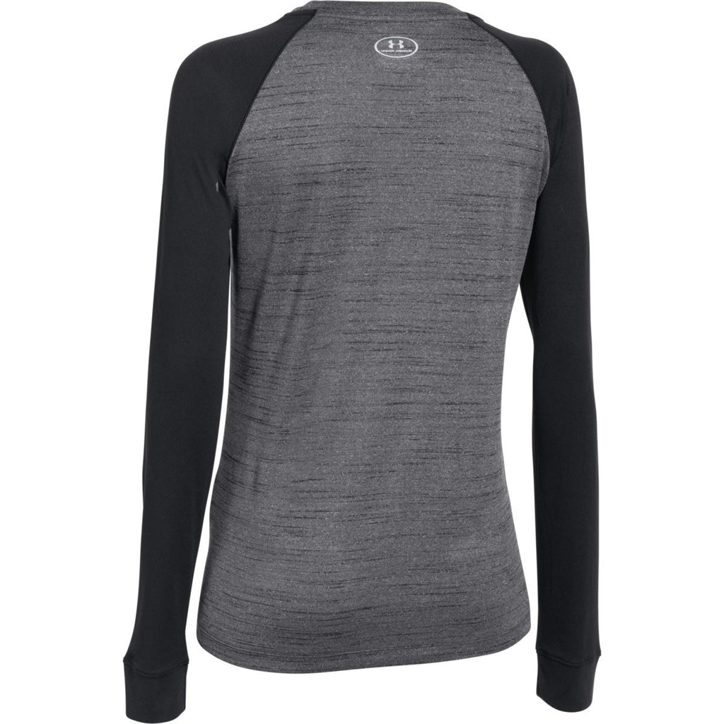 Under Armour Women's Black Novelty Locker Long Sleeve Tee