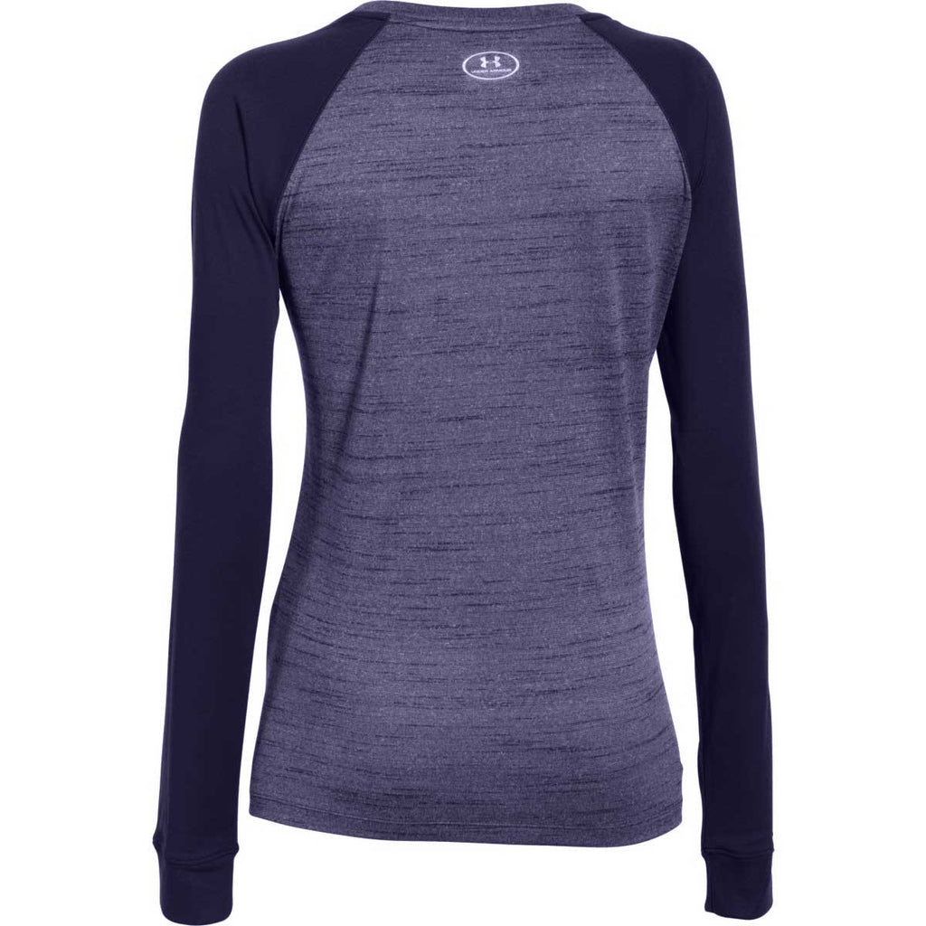 Under Armour Women's Midnight Navy Novelty Locker Long Sleeve Tee