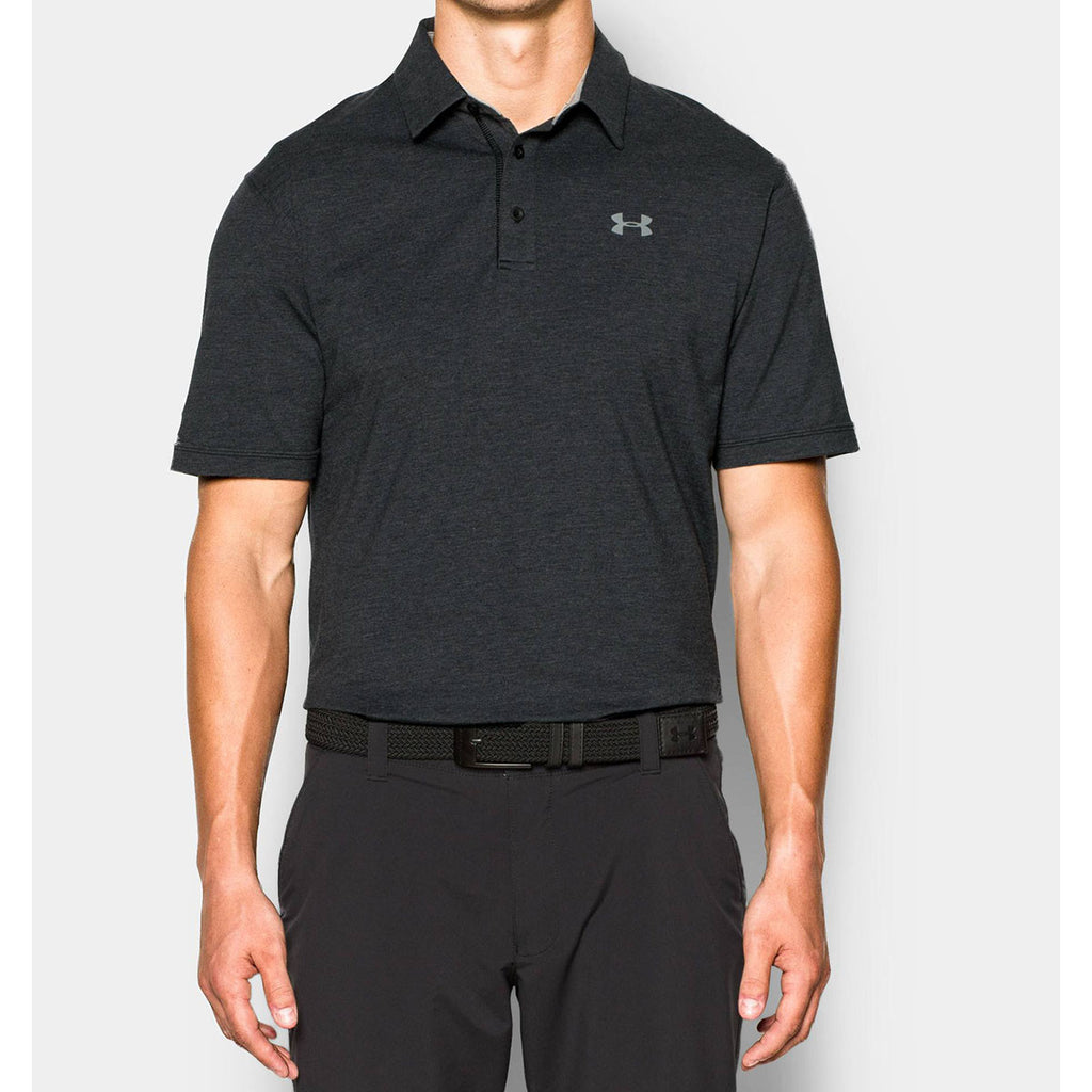Under Armour Men's Black Charged Cotton Scramble Polo