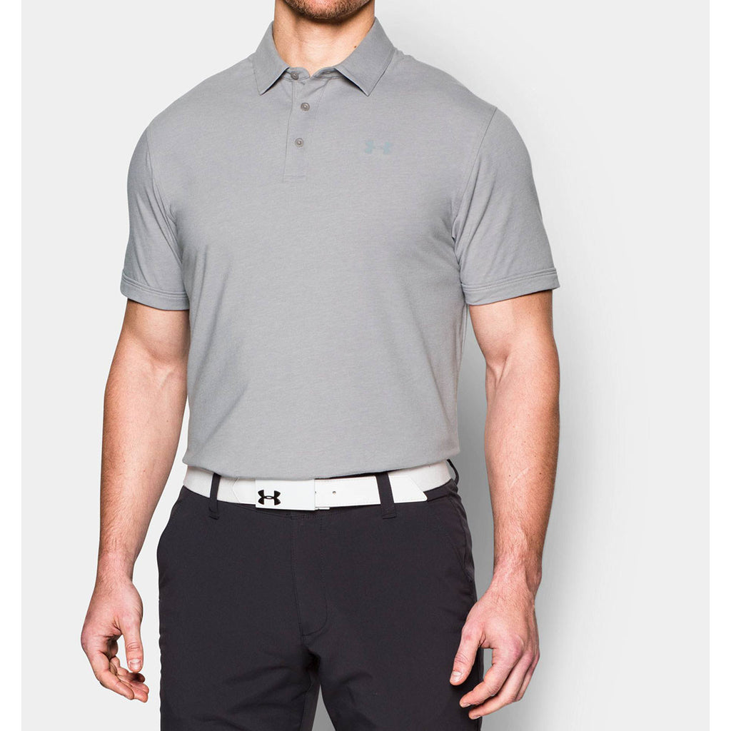 Under Armour Men's Grey Charged Cotton Scramble Polo