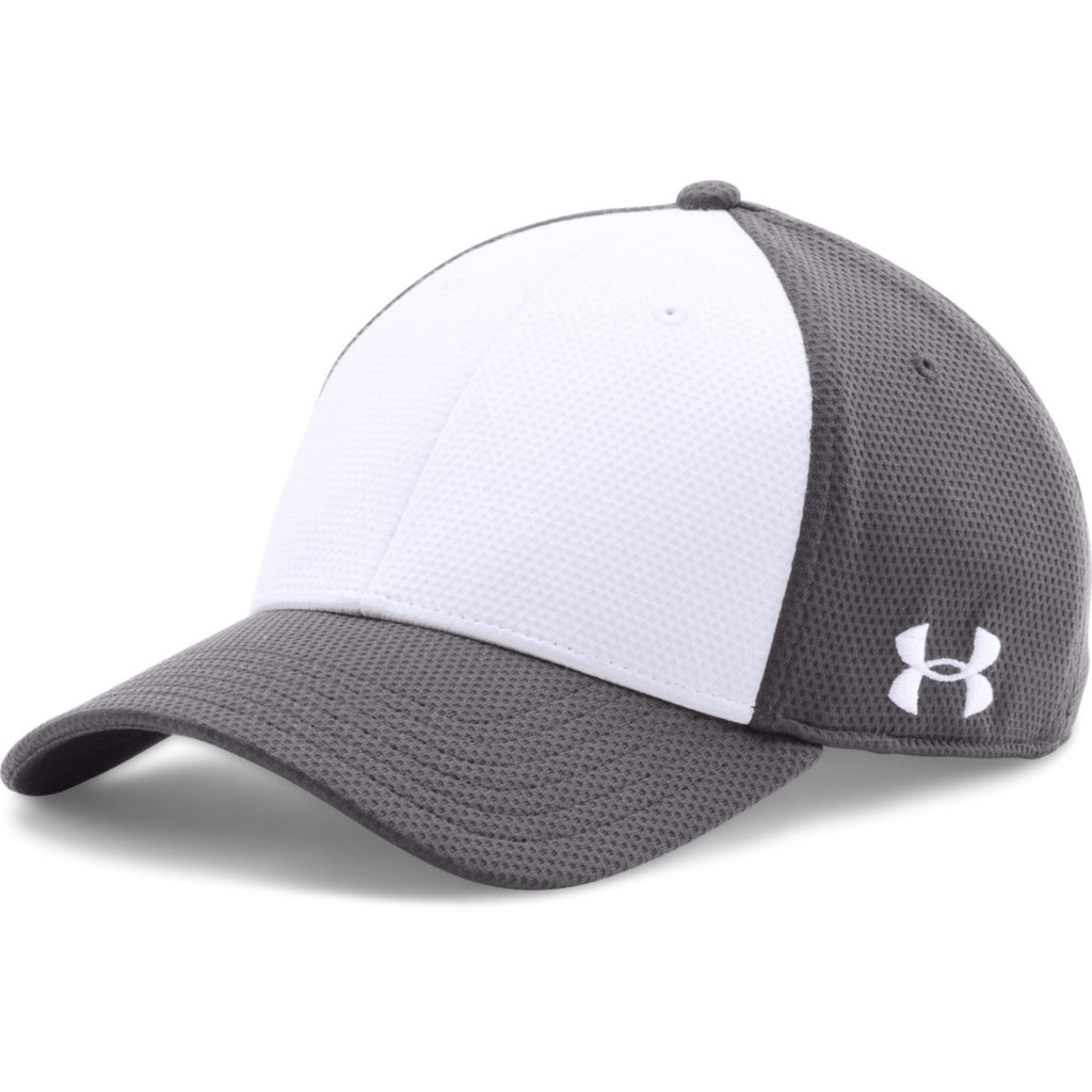 4766ac256e2a Under Armour Graphite/White Color Blocked Blitzing Cap. ADD YOUR LOGO
