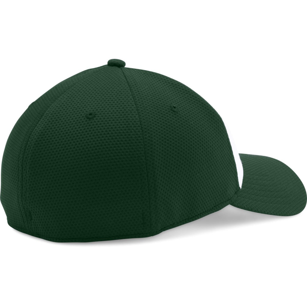 Under Armour Forest Green White Color Blocked Blitzing Cap 7c95b79ece3