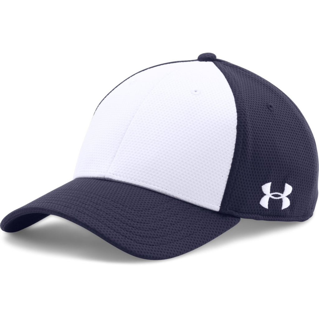 35ba47fd4f1 Under Armour Midnight Navy White Color Blocked Blitzing Cap. ADD YOUR LOGO