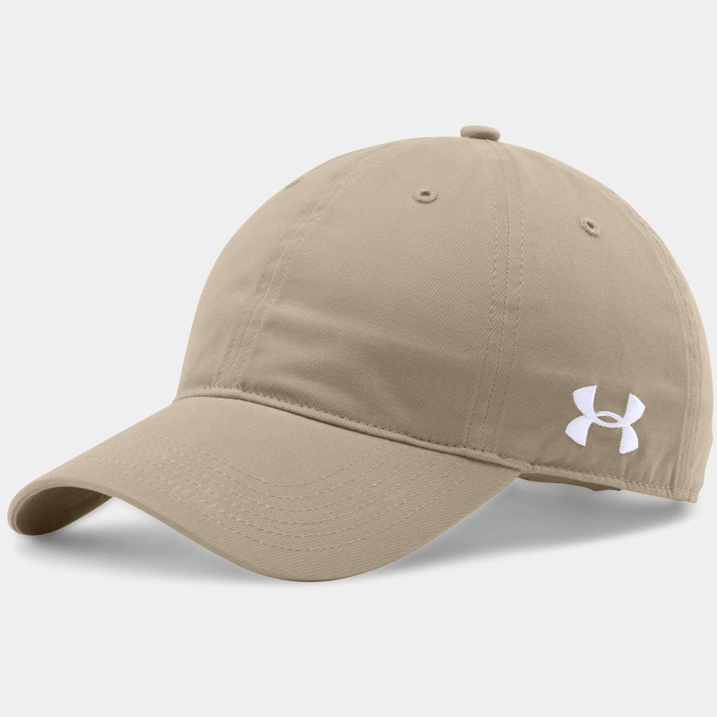 Under Armour Desert Khaki Chino Relaxed Cap. ADD YOUR LOGO 187fe773b131