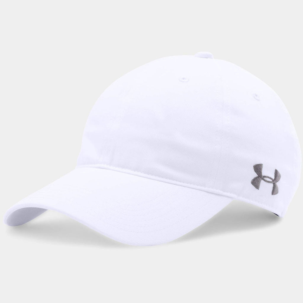 6a21748c Under Armour White Chino Relaxed Cap. ADD YOUR LOGO