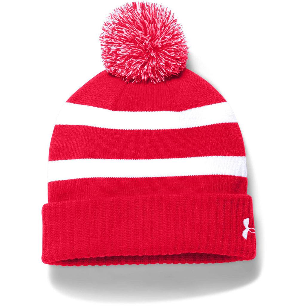 Under Armour Men s Red Pom Beanie 2fe85b4889e