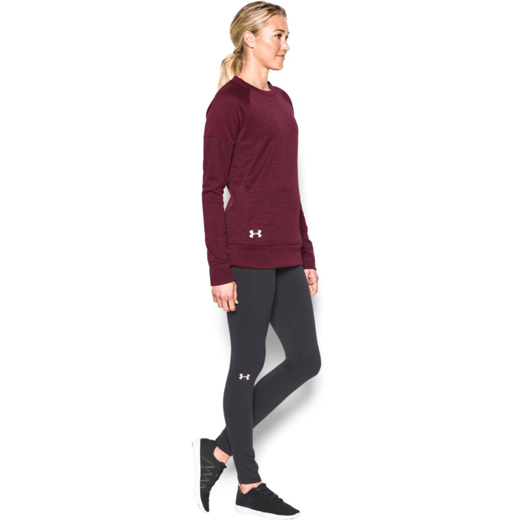 Under Armour Women's Maroon Novelty Armour Fleece Crew