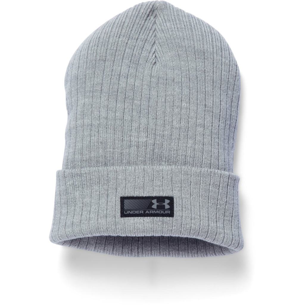 1df6dfde4db Under Armour Men s True Gray Heather UA Truck Stop Beanie