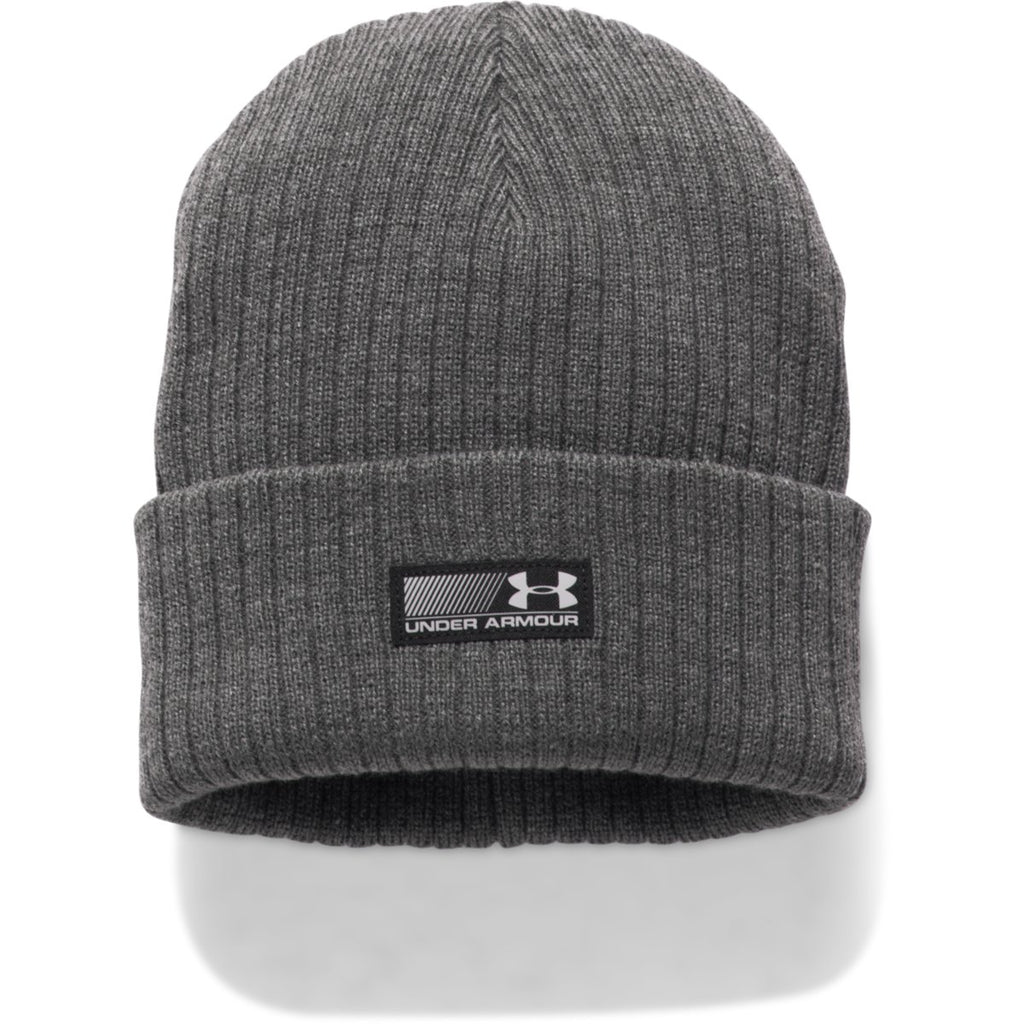 976c761b Under Armour Men's Carbon Heather/Black UA Truck Stop Beanie