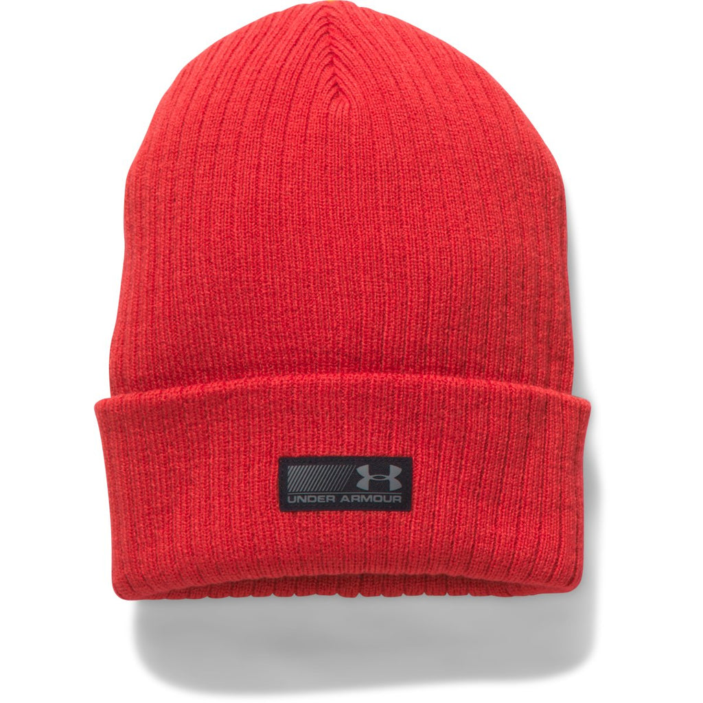 b2a71d9efe1dc5 Under Armour Men's Red/Black UA Truck Stop Beanie