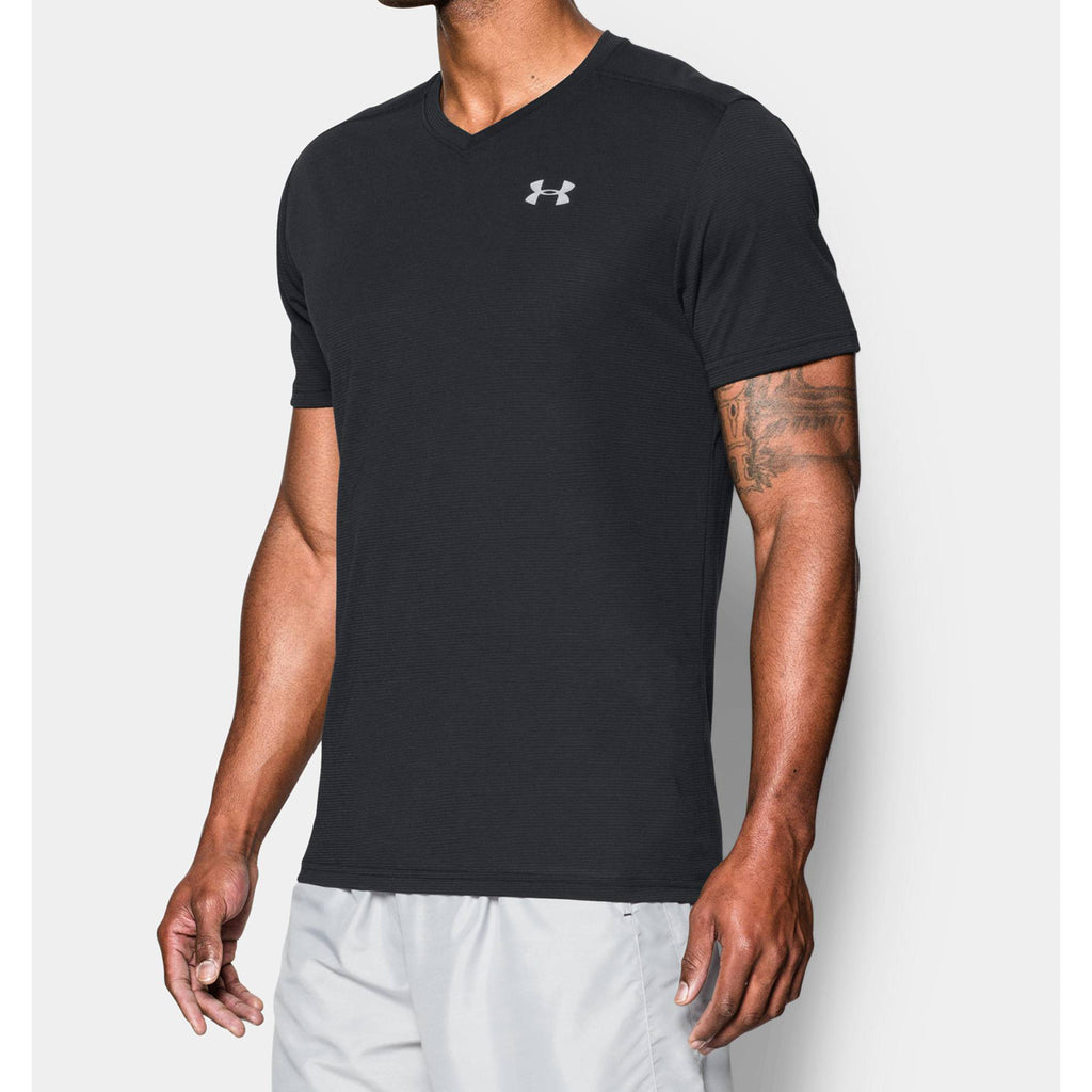 Under Armour Mens Streaker V-Neck Short Sleeve Shirt Under Armour Apparel 1283380