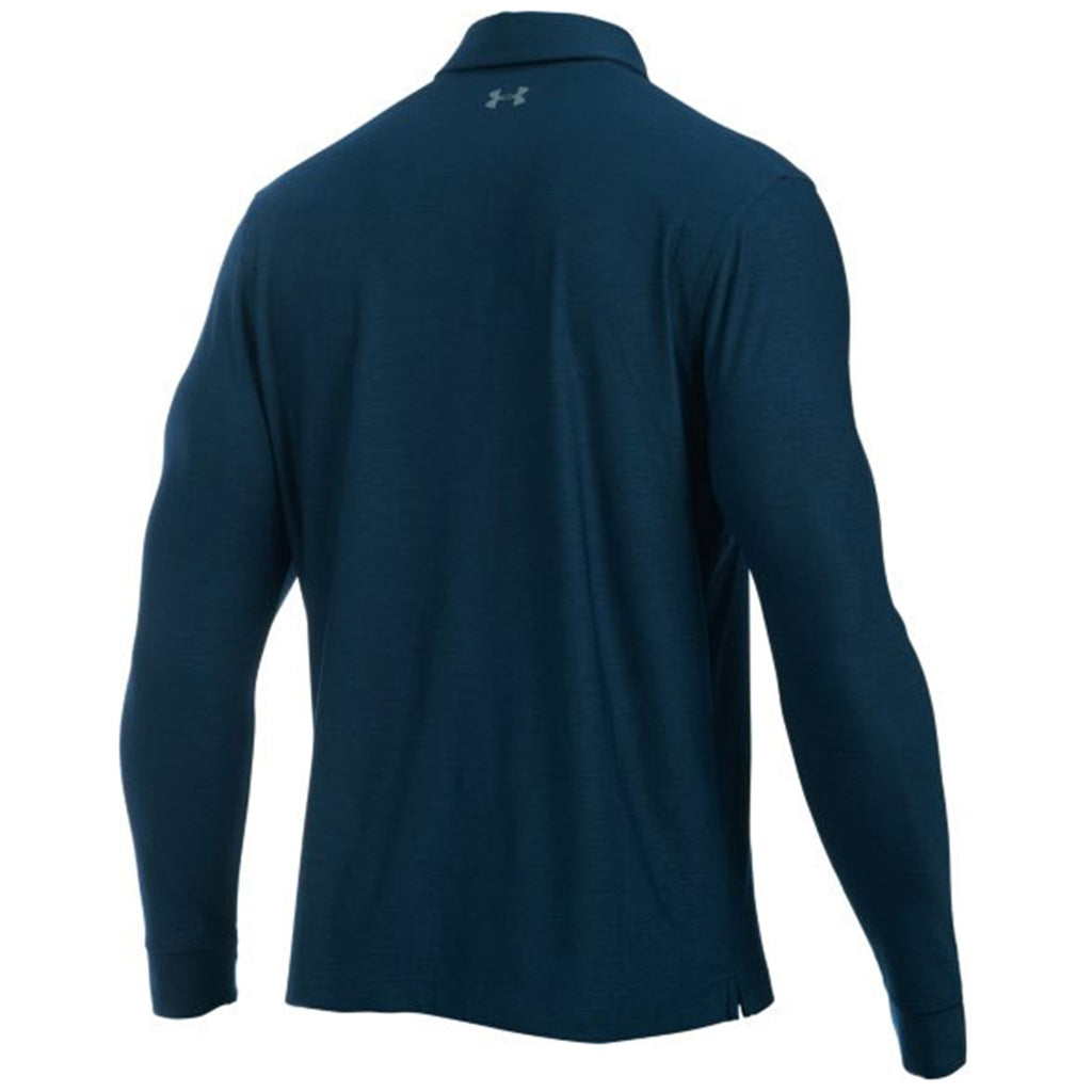 Under Armour Men's Academy Navy Long Sleeve Polo