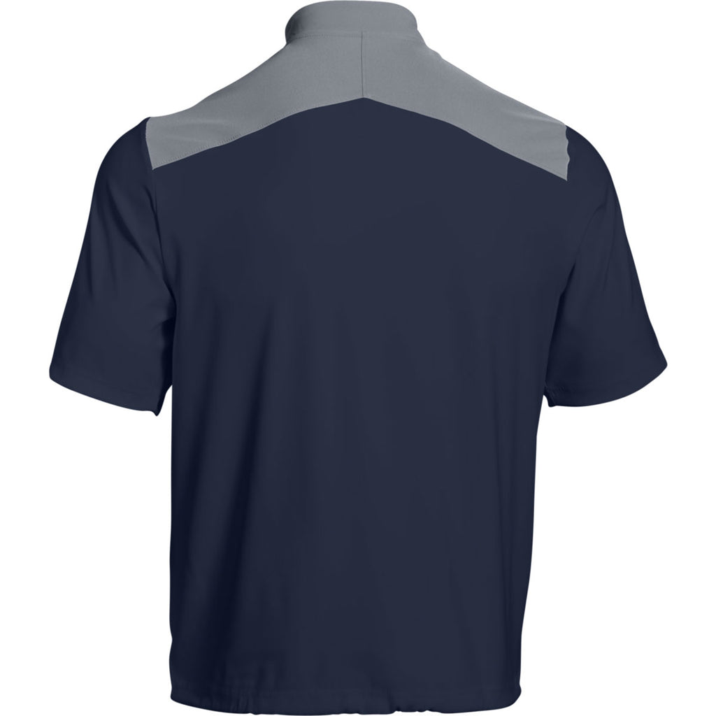 Under Armour Men's Midnight Navy Triumph Cage Jacket Short Sleeve