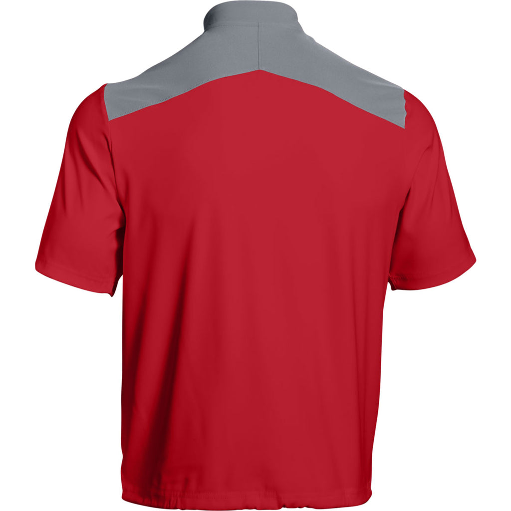Under Armour Men's Red Triumph Cage Jacket Short Sleeve