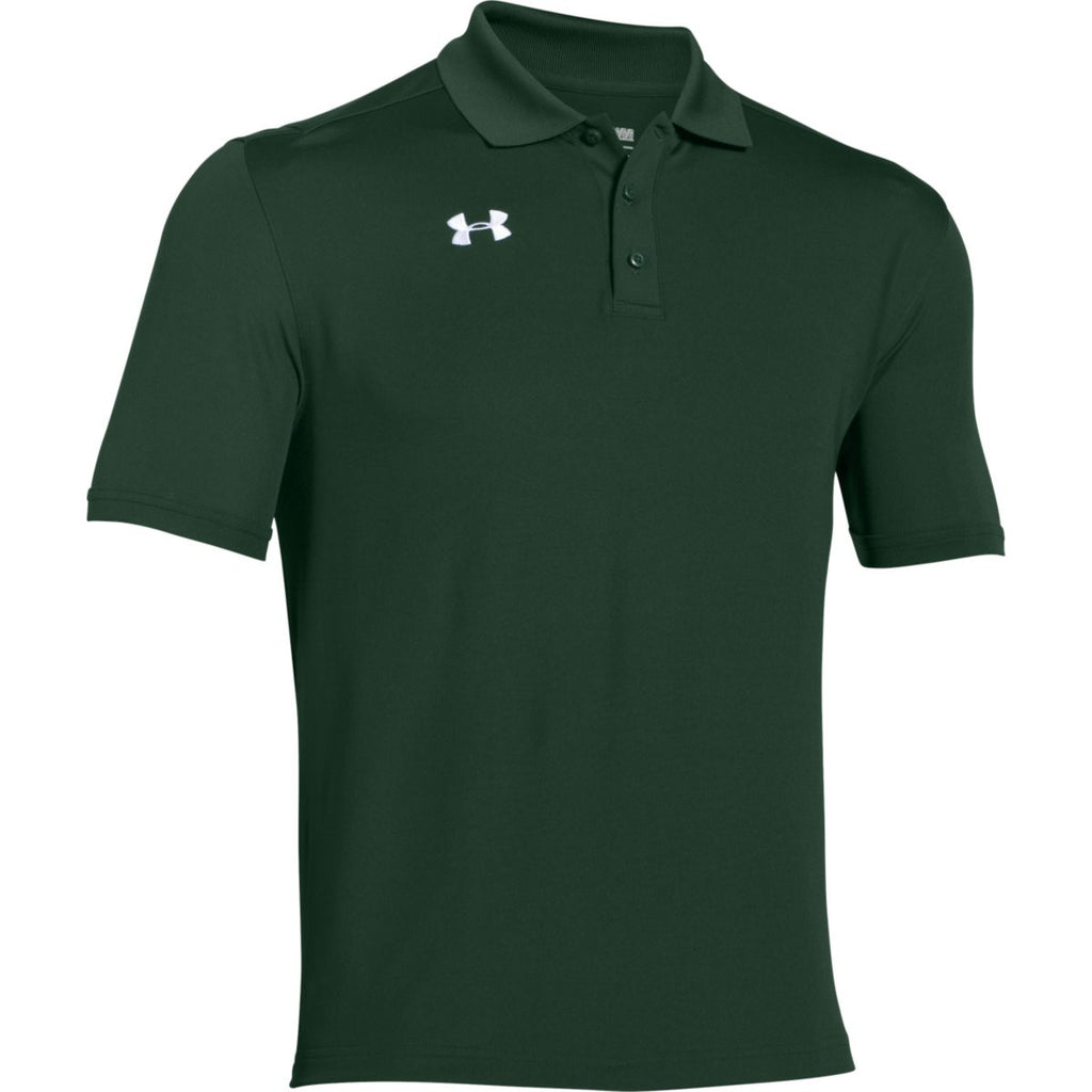 Under Armour Men 39 S Forest Green Team Armour Polo