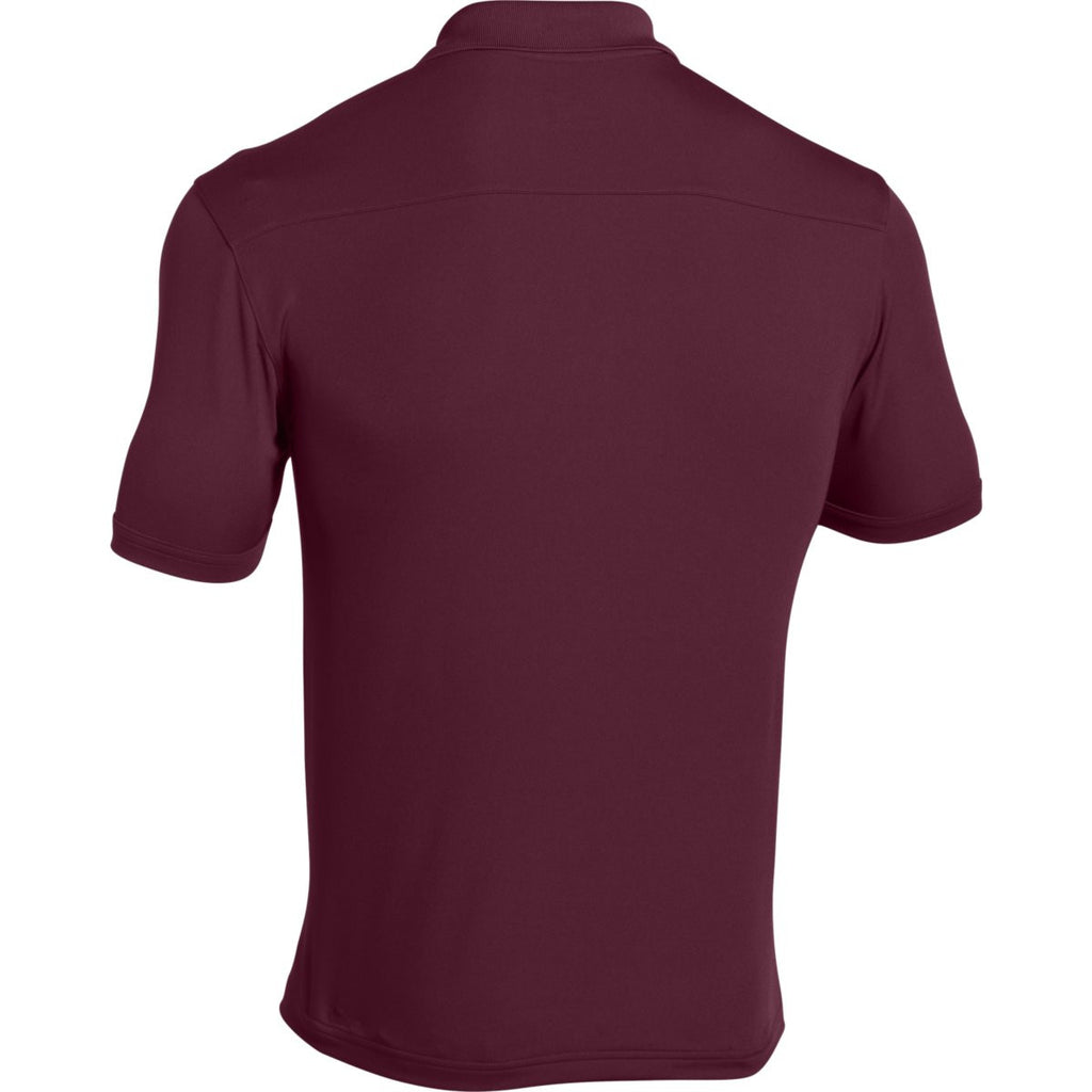 Under Armour Men's Maroon Team Armour Polo