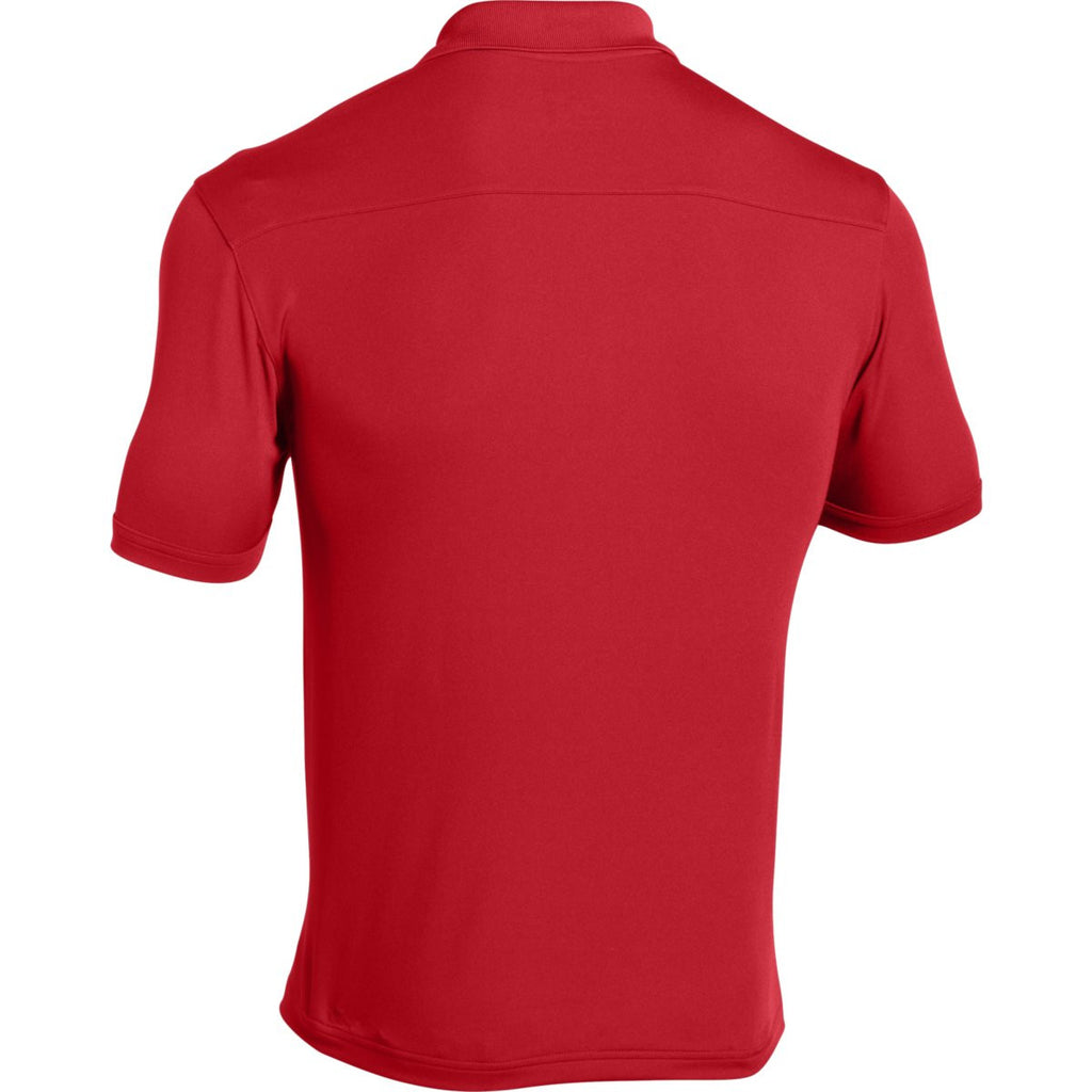 Under Armour Men's Red Team Armour Polo