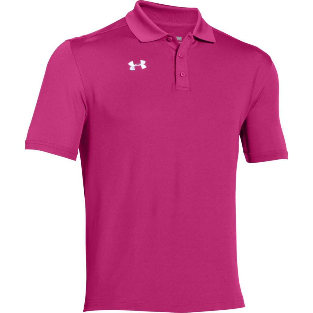 1f88849fe1 Under Armour Men s Tropic Pink Team Armour Polo