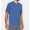 Under Armour Men's Royal UA Threadborne V-Neck Short Sleeve